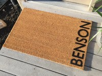 Personalized door mat Welcome Mat 'Benson' Style