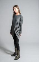 Oversize Tunic / Asymmetric Blouse / Extravagant Shirt / Oversize Party Top / Long Tunic / marcellamoda - MB374