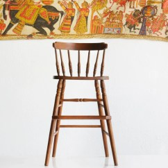 Vintage Wood High Chair Joovy Nook Reviews With Spindle Back 1970s