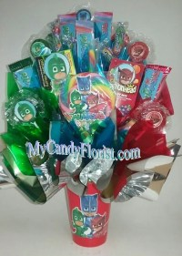 PJ MASKS Candy Bouquet Centerpiece Loaded w/ Edible Party