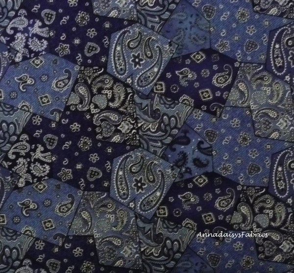 Blue Bandana Fabric Northcott 4861 Rodeo Roundup Cheri