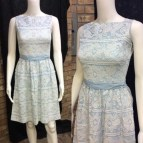 Vintage 1960' Blue Lace Juniors Sundress Sandy Shaw