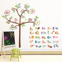 Kids Alphabet and Numbers Wall Decals / Stickers Great for
