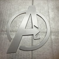 Marvel Avengers superhero metal art decoration decor sign