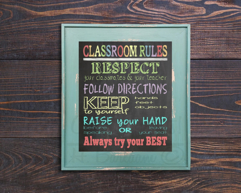 Classroom Rules Print