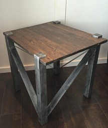 Rustic Industrial End Table