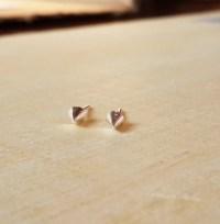 Small Spike Stud earring Spike earrings by Happinesssilver