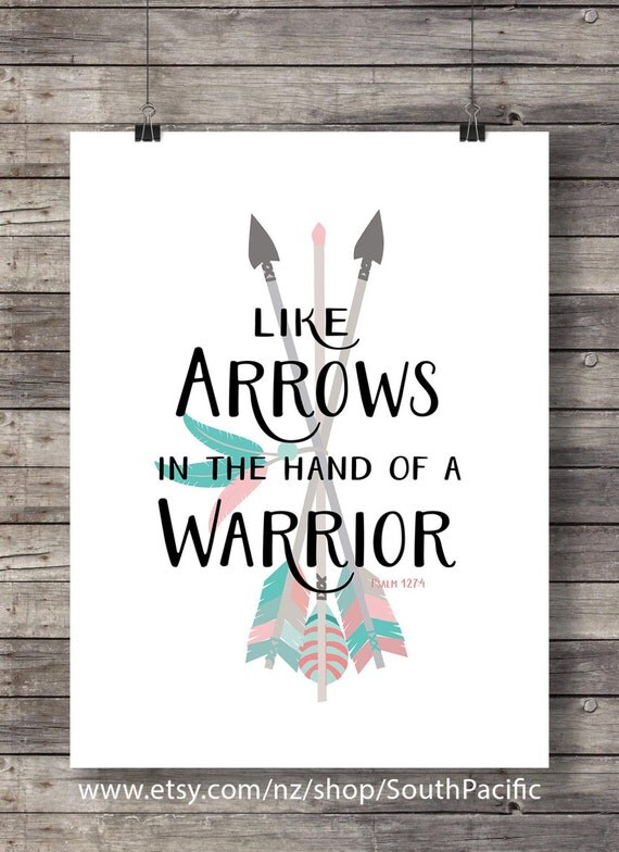 Bible Verse Quotes Wallpaper Like Arrows In The Hand Of A Warrior Psalm 127 4 Printable