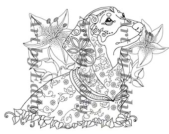 Art of Dachshund Coloring Book Volume No. 1 Downloadable