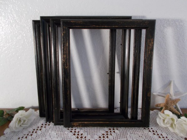 Black Wood Frame 11 X 14 Cycled Vintage Rustic
