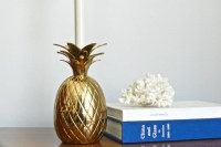 Vintage Brass Pineapple Lamp Small Solid Brass Pineapple Table