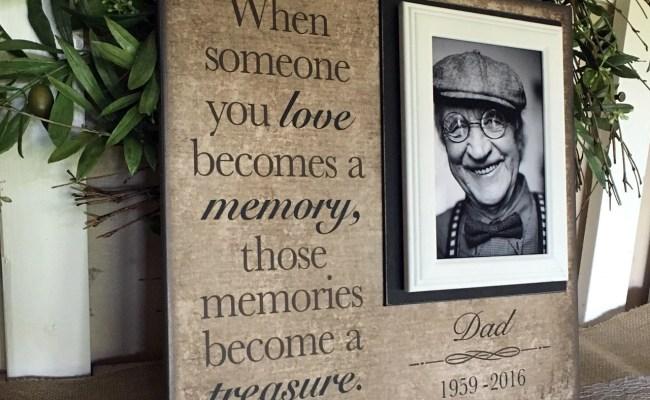 In Memory Frame Lost Loved One Photo Memorial Those Memories