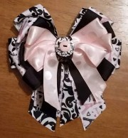 girls hair bow four ribbon fancy