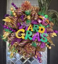 Mardi Gras Wreath Mardi Gras Decoration Door by ...
