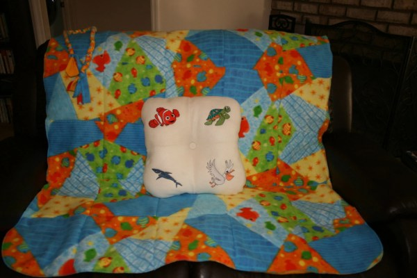 Nemo Blanket And Pillow Set. Embroidered Characters. Soft