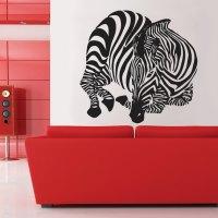Zebra Wall decal Home Dcor Wall decal Large Zebra Vinyl Wall