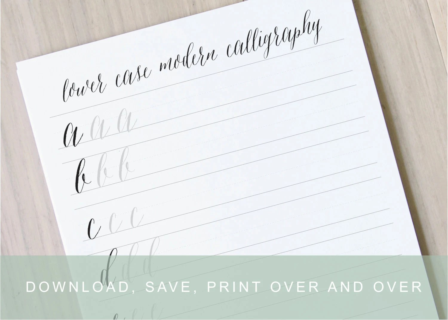 Lower Case Modern Calligraphy Worksheet Learn Calligraphy Printable Practice Sheet Pointed Pen