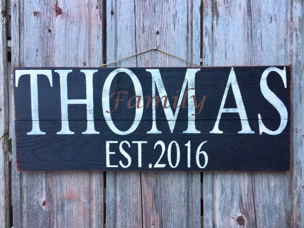 Home Decor Personalized Signs