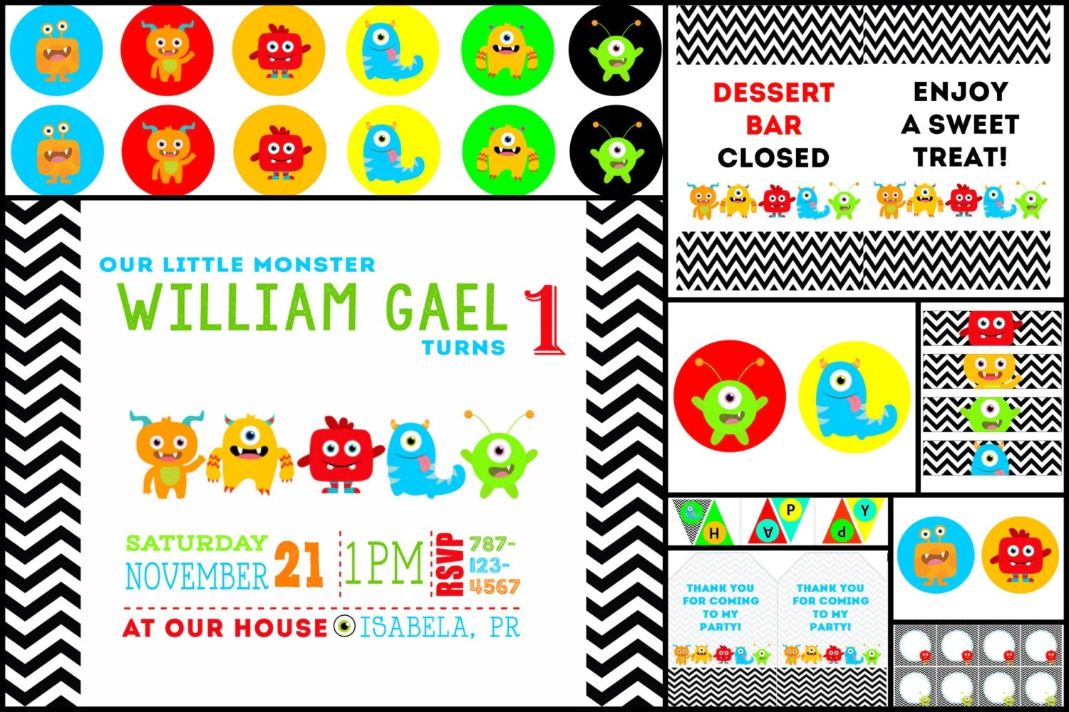 Little Monster Printables Collection