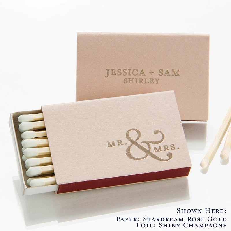 Mr Amp Mrs Personalized Match Boxes Party Favors Custom