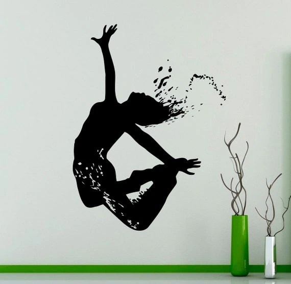 Dancing Girl Acrobatics Wall Decal by USAmadeproducts