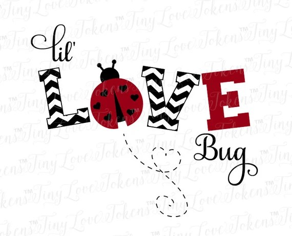 Download Lil Love Bug SVG Design for Silhouette and other craft cutters