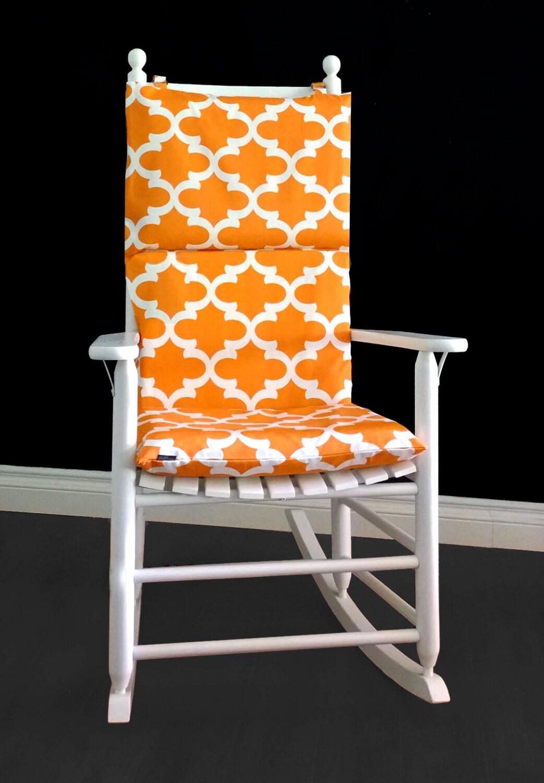 rocking chair cushion covers teal office cover fynn cinnamon by rockincushions