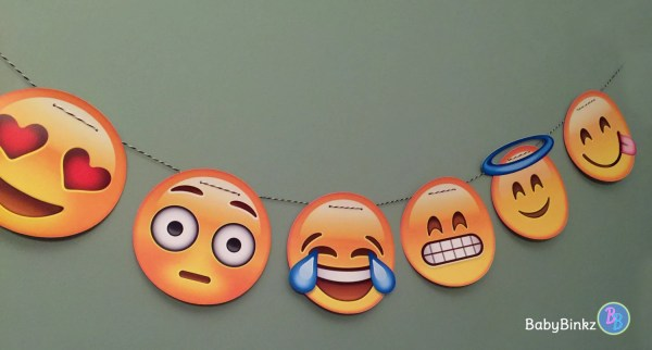 Party Banner Emoji Garland Wedding Birthday