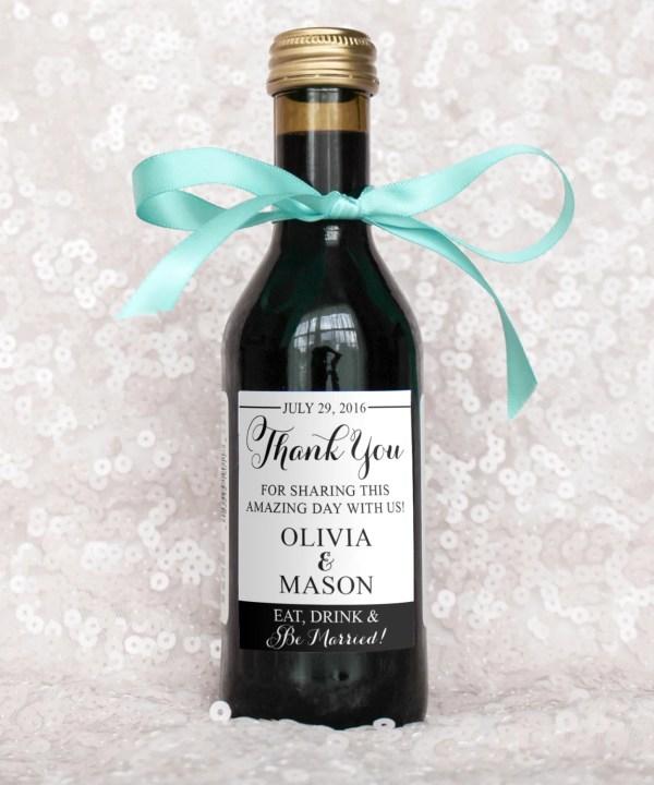 Wedding Favor Mini-wine Bottle Labels Diy Digital File