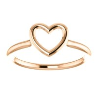 Rose gold heart ring heart ring gold promise ring by ...