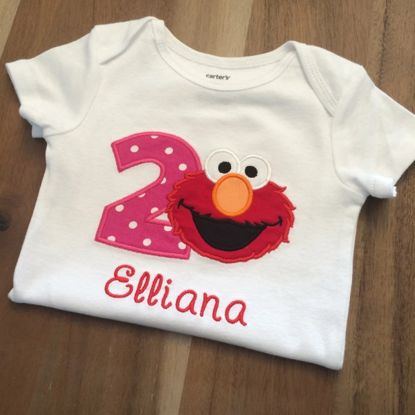 Sesame Street Elmo Birthday Shirt