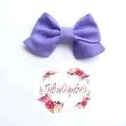 purple sailor bow hair bows