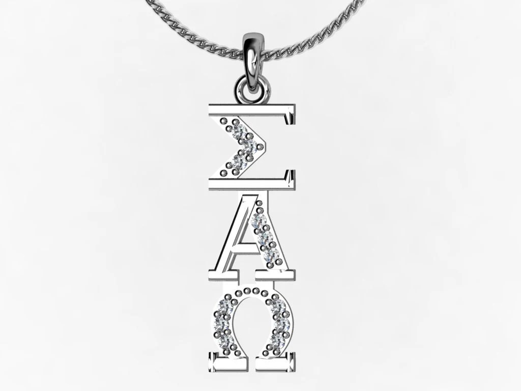 Sigma Alpha Omega Necklace Sterling Silver SAO-P001