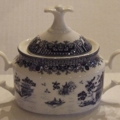 Chinese Kitchen Accessories Standard Table Size Sugar Bowl Gracie China True Blue