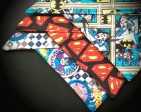 DC Inspired Superhero Fleecy Pet Bandana: Batman, Superman and Wonder Women / Batgirl, Medium and Large Sizes for your Nerdy Dog