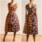 Hoi Vlisco Dinner Shortdress African Print Knee Length