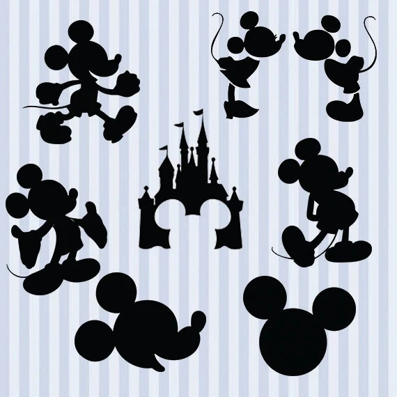 Download Mickey Mouse svg silhouette pack Mickey clipart digital