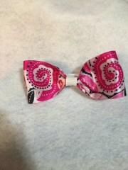 bright pink bow white