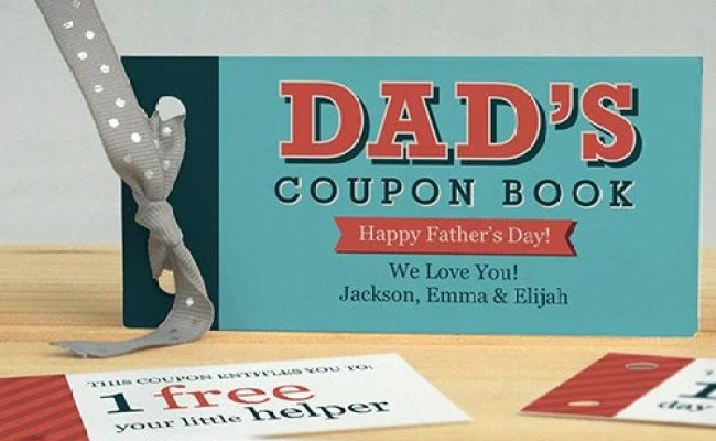 Personalized Father S Day Coupon Book Unique Gift For