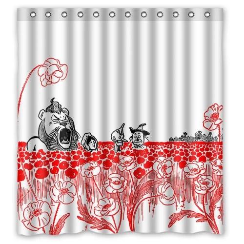 Wizard Of Oz Shower Curtain Oz Poppy Field Frank Baum