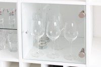 Glass Cabinet insert for IKEA Kallax shelf / white without