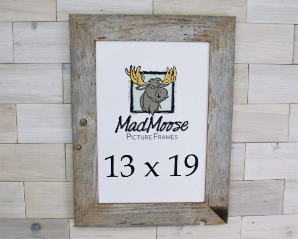 13x19 Barn Wood Chunky X 3 Frame Tags Barnwood Weathered