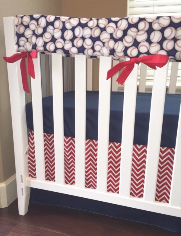 Sports Baseball Crib Beddingboy Baby Custombebetextiles