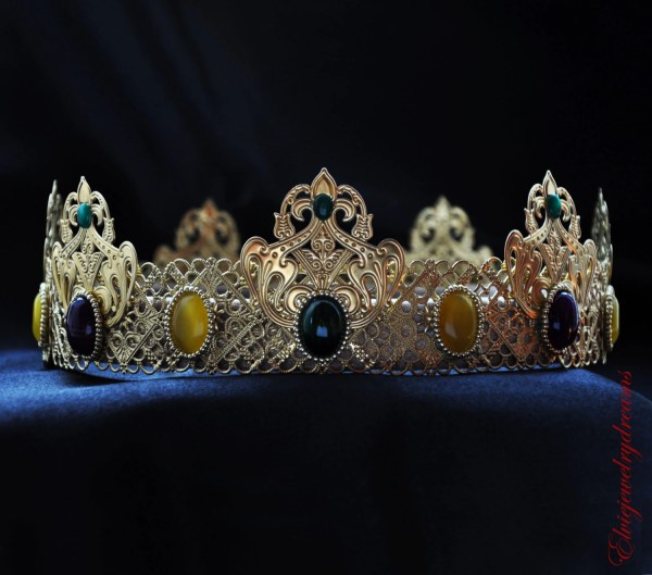 Purple and Gold King Crown