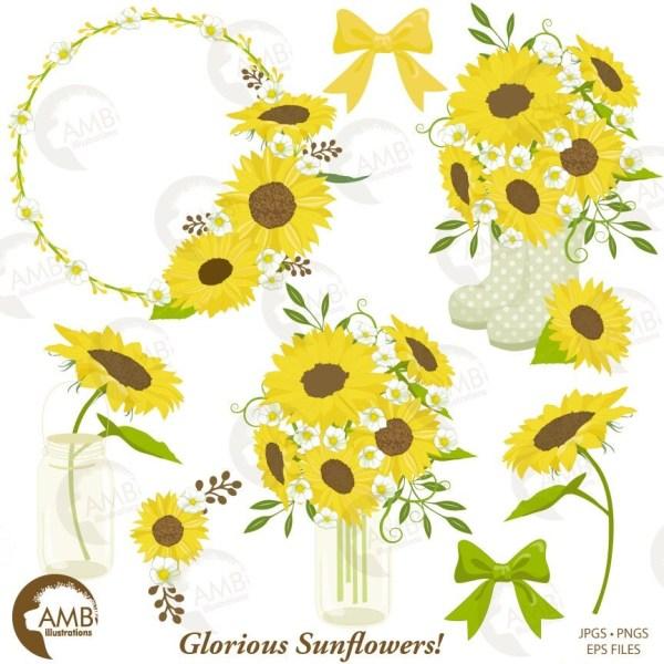 sunflower clipart wedding