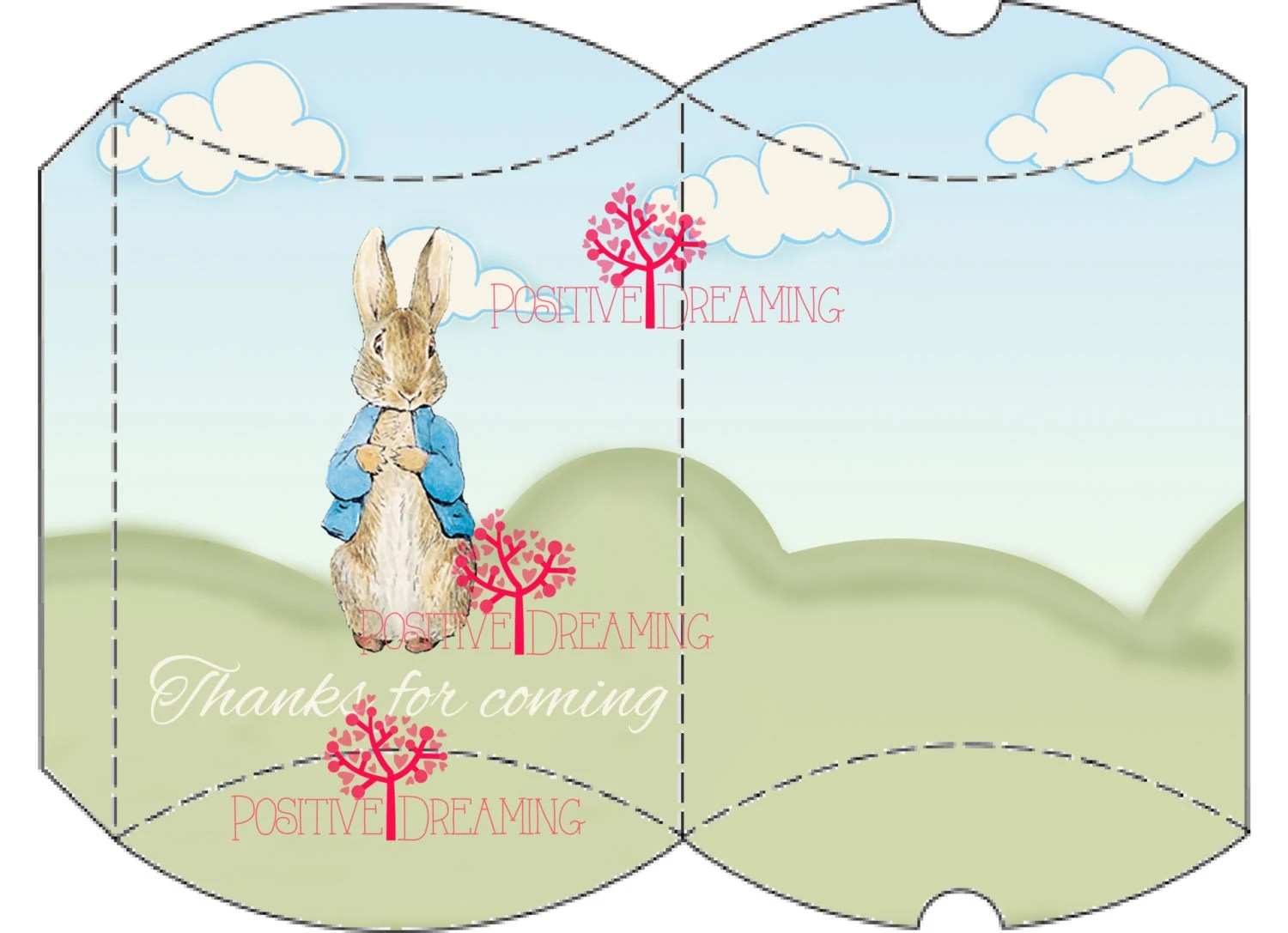 Peter Rabbit Pillow Box Printable Instant Download From Avecmoiprintables On Etsy Studio