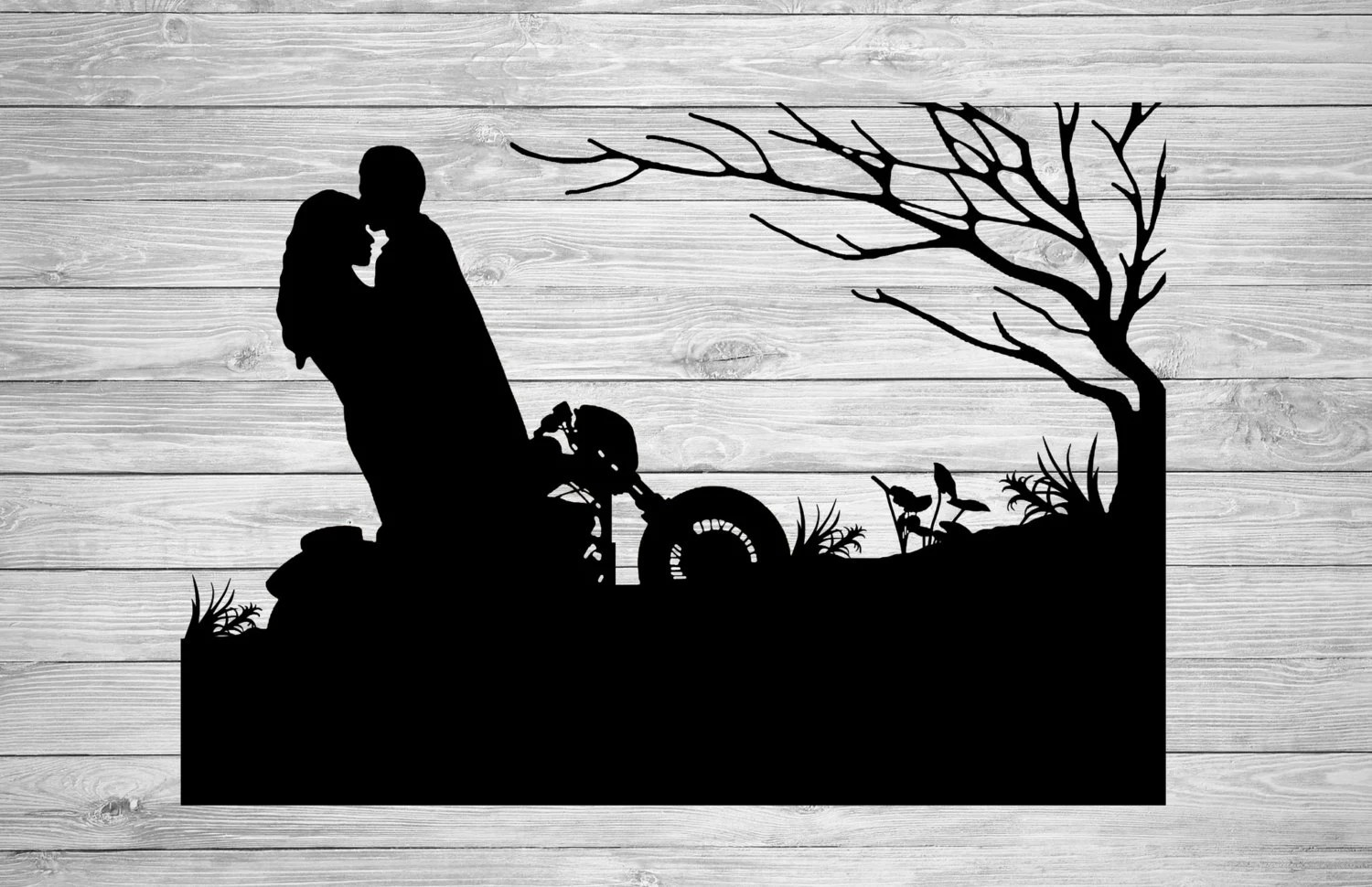 Paper Cut Art Motorcycle Gifts Motorcycle Art Couples Gift