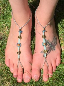 Barefoot Sandals Macrame Busy Bee