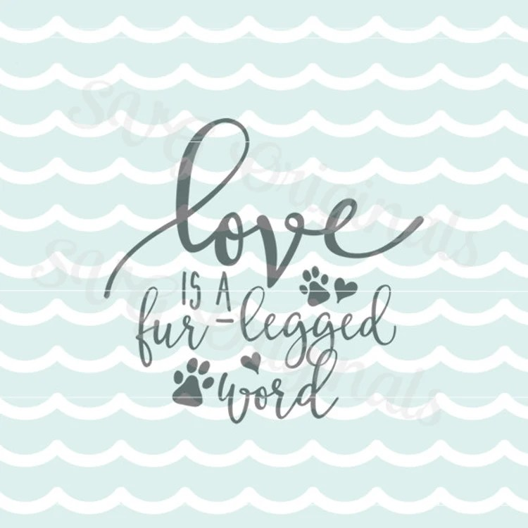 Download Dog Puppy SVG Love Is A Four Legged Word Play SVG by ...
