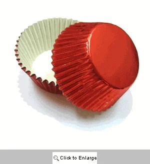 RED FOIL Mini Baking Cups from SweetStuffShopppe on Etsy